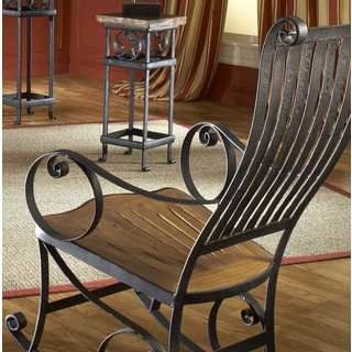 TF-0755 Ironhorse Brown Iron/ Wood Rocking Chair