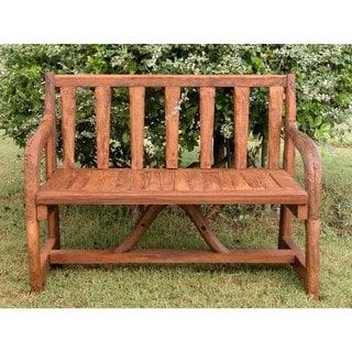 Handmade TF-0058 Teak Reclaimed Park Divan Bench (Thailand)