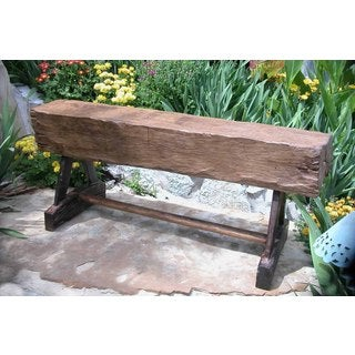 TF-0256 Groovystuff Reclaimed Teak Feed Trough Garden Bench (Thailand)