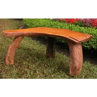 Groovystuff Alpine Brown Teak Circuit Bench