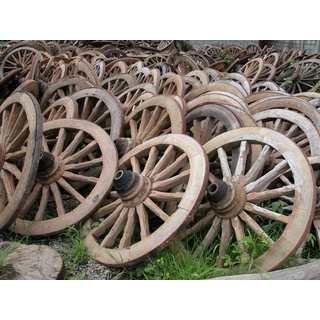 Antique Wild West Wagon Wheel