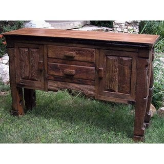 Handmade Panhandle Recycled Teak Wood Hutch (Thailand)