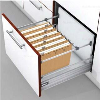 Metafile White Metal Kit for Filing Cabinet Hanging System
