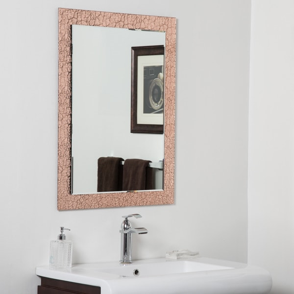 Copper Leaf Modern Bathroom Mirror
