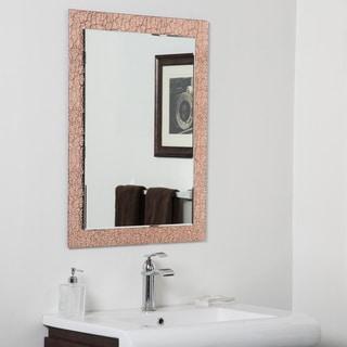 Copper Leaf Modern Bathroom Mirror