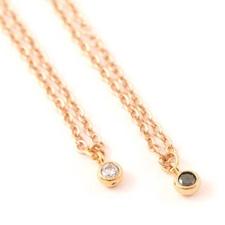 LilahV Women's Timeless Yellow Gold Overlay Crystal Necklace