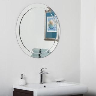 Chase Round Modern Bathroom Mirror - Silver - 27.5Hx27.5Wx.5D