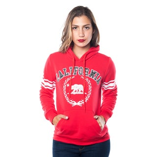 Special One Women's Fleece Double Hood Sweatshirt Embellished with Appliques