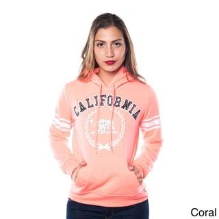 Special One Women's Fleece Double Hood Sweatshirt Embellished with Appliques