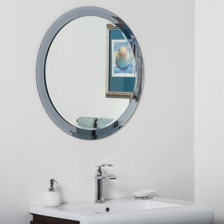 Charles Modern Bathroom Mirror - Silver - 27.5Hx27.5Wx.5D