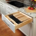 Rev-A-Shelf Cut to Size Trimmable Insert Wood Knife Organizer Block Tray and Drawer