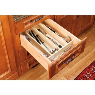 Rev-A-Shelf Maple Hardwood Cut-to-size Kitchen Utensil Separator/Organizer Drawer Insert