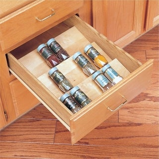 Rev-A-Shelf Wood Cut-to-size Insert Spice Organizer for Drawers