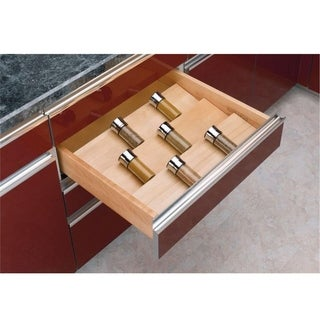 Rev-A-Shelf Cut-to-size Insert Wood Spice Organizer for Drawers