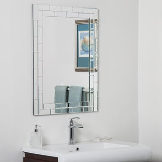 Grand Street Beveled Glass Frameless Bathroom Mirror
