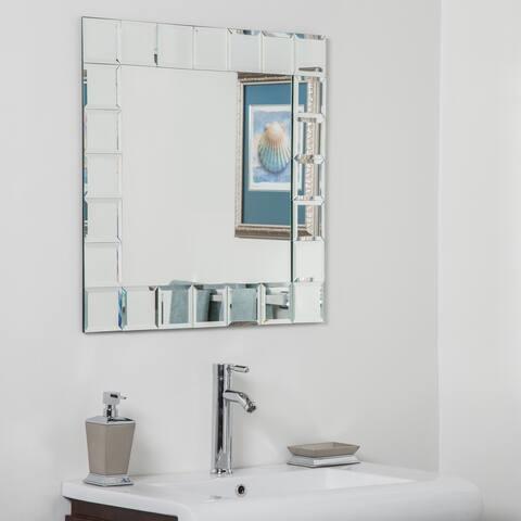 Montreal Square Bathroom Mirror - Silver - 27.5Hx27.5Wx.5D