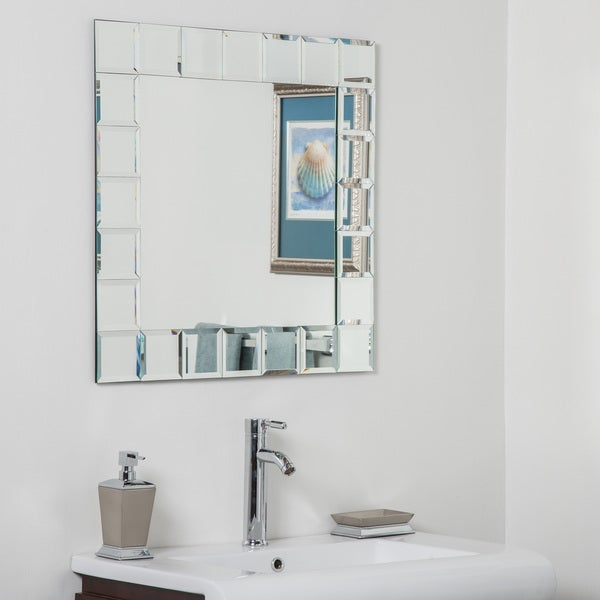 bathroom mirrors montreal shop montreal square bathroom mirror silver n a free 11152