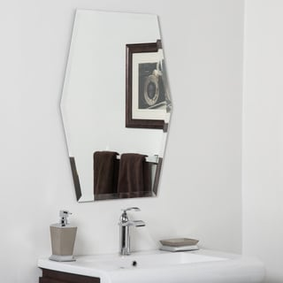 Century Clear Glass Modern Bathroom Mirror