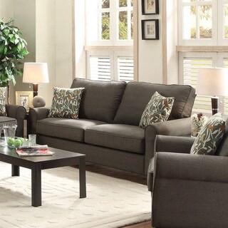 Grey Linen-like Loveseat/Sofa
