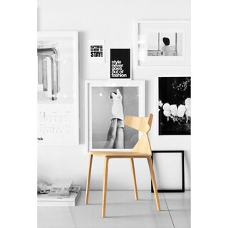 Grandprix Tapered-leg Oak Armless Chair