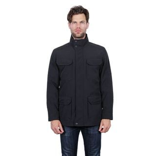 Tahari Men's Black Polyester 4-pocket Utility Jacket