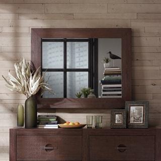INK+IVY Monterey Brown Wooden Frame Mirror