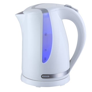 Mega Chef 1.7Lt. Plastic Electric Tea Kettle- White