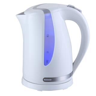 Mega Chef 1.7Lt. Plastic Electric Tea Kettle- White|https://ak1.ostkcdn.com/images/products/13002802/P19747221.jpg?impolicy=medium