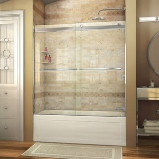 DreamLine Essence 56 to 60 in. Frameless Bypass Tub Door