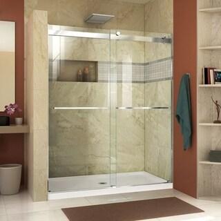 """DreamLine Essence 56-60 in. W x 76 in. H Frameless Bypass Shower Door - 56"""" - 60"""" W"""