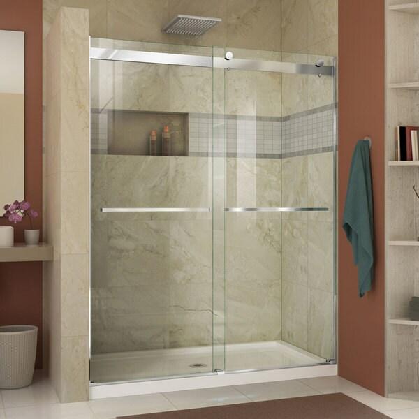 Shop Dreamline Essence 56 To 60 In Frameless Bypass Shower Door