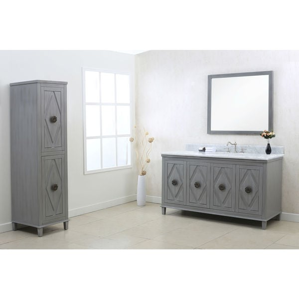 Legion furniture 60 quot gray sink vanity cabinet set free shipping