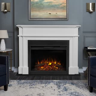 Harlan White Finish 55.13 in. L x 13.5 in. D x 44.13 in. H Electric Grand Fireplace by Real Flame|https://ak1.ostkcdn.com/images/products/13002824/P19747232.jpg?impolicy=medium