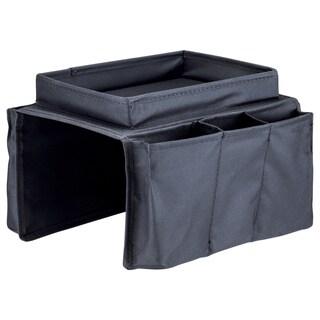 Black Nylon, Polyester, and PVC Armrest Organizer