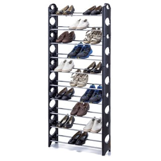 30-pair Stackable Shoe Rack