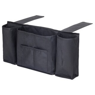 Black 5-pocket Bedside Storage Organizer