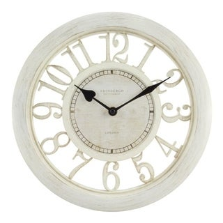 La Crosse Equity 20857 White Plastic 11 1/2-inch Floating-dial Wall Clock