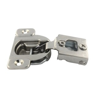 Compact 38N Series 1/2-inch 105-degree Overlay Wraparound Screw-on Self-closing Cabinet Hinge (Case of 50)