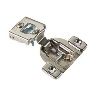 Silvertone Metal Screw-On Self Closing Cabinet Hinge (Case of 25)