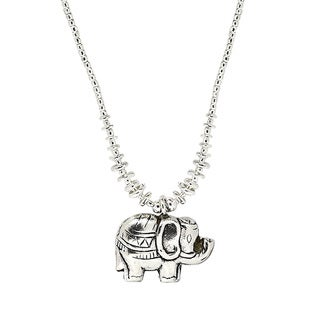 Pleasant Mountain Elephant Yao HillTribe Silver Necklace (Thailand)