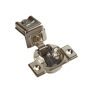 Silver Metal 1-5/16-inch 110-degree Compact 39C Series Blumotion Overlay Screw-on Self-closing Cabinet Hinges (Case of 25)