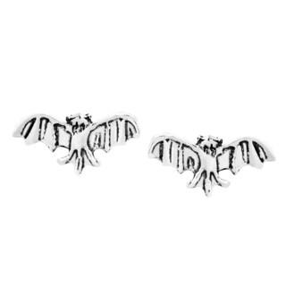 Midnight Mini Flying Bat Sterling Silver Stud Earrings (Thailand)