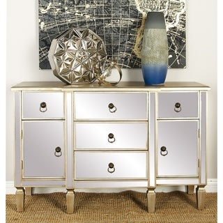 Benzara Wood Mirror Cabinet