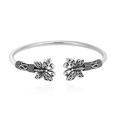 82e8bb50005 Handmade Thai Filigree Butterfly Balinese .925 Sterling Silver Bracelet Cuff  (Thailand)