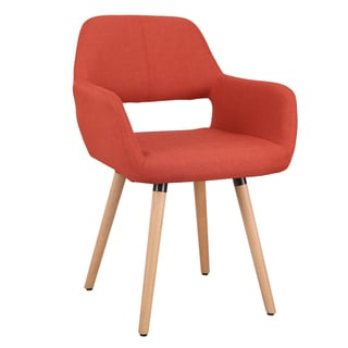 Adeco Velvet and Beechwood Leisure Chair