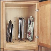 Rev-A-Shelf 597 Series Chrome Metal 12-inch Tray Divider with Mounting Clips