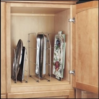 Rev-A-Shelf 597 Series Chrome-finished Metal 18-inch Tray Divider with Mounting Clips
