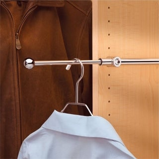 Rev-A-Shelf Chrome Metal 14-inch Pull-out Closet Valet Clothes Rod