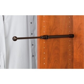 Rev-A-Shelf OIl-rubbed Bronze Metal 14-inch Pull-out Clothes Closet Designer Valet Rod (Set of 2)