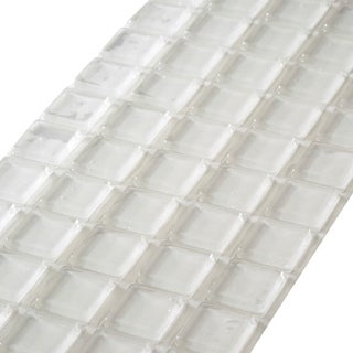 Large Clear Square Self-adhesive Rubber 1-inch x 0.18-inch Bumpers (Pack of 10)